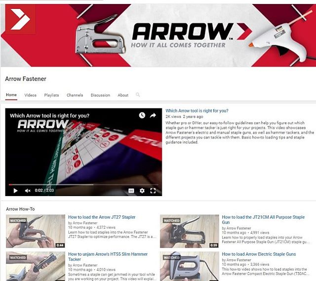 Are you in need of expert help?  That's what we're here for! We have how-tos, featured project ideas and close-ups of our products all on our channel. Click that handy little link in our profile to subscribe and start watching!