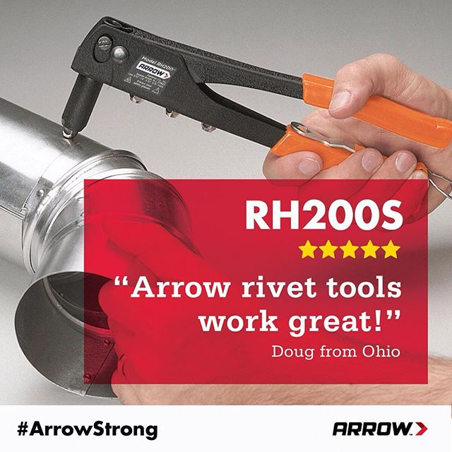 """Arrow rivet tools work great. I have used them for years. … They are inexpensive and they get the job done."" Doug from Ohio shares his thoughts on our rivet tools. Are you ready to be riveting? Click the link in our profile to see what we have to offer."