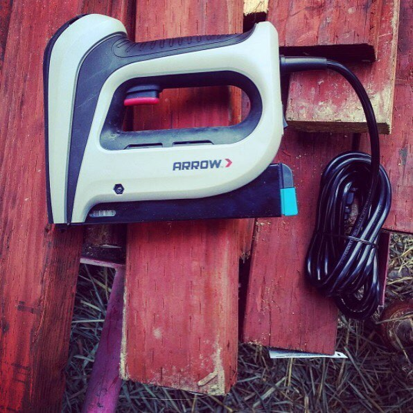ARROW LOVE: Spotting this snapshot from @theglassskeleton who used Arrow's T50ACD Compact Electric Staple Gun to upgrade a chicken coop. Want your photo to be shared on our Instagram? Tag us or use on your next project picture!