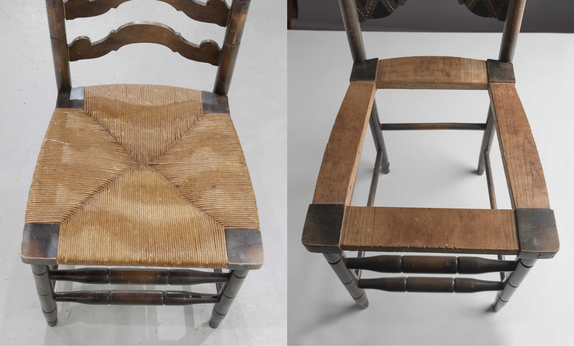 how to recane a chair seat