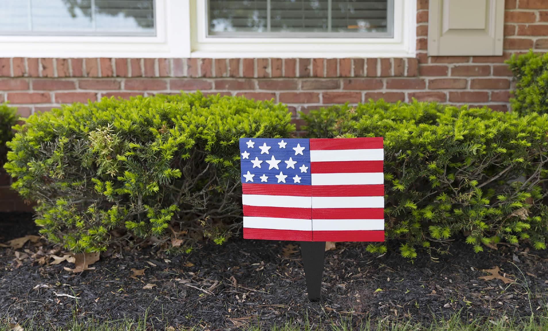 outdoor homemade usa flag