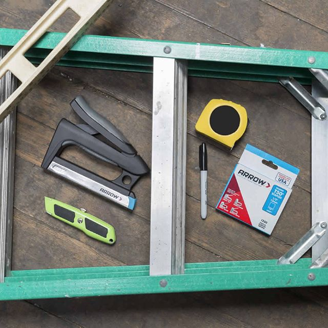 New blog! Use Arrow's T50HS Advanced Professional Staple Gun to install radiant barrier in your home and save big on energy costs. (Link in bio!)