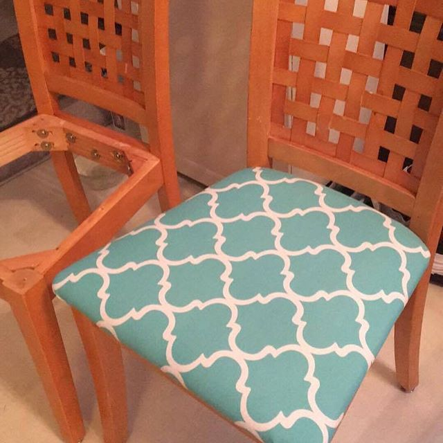 ARROW LOVE: Seeing one of our staple giveaway winners using her free staples for her T50ACD-R Compact Electric Staple Gun to tackle reupholstery. The chairs look great, Janet! (See Janet's tool up-close by clicking the link in our profile!)