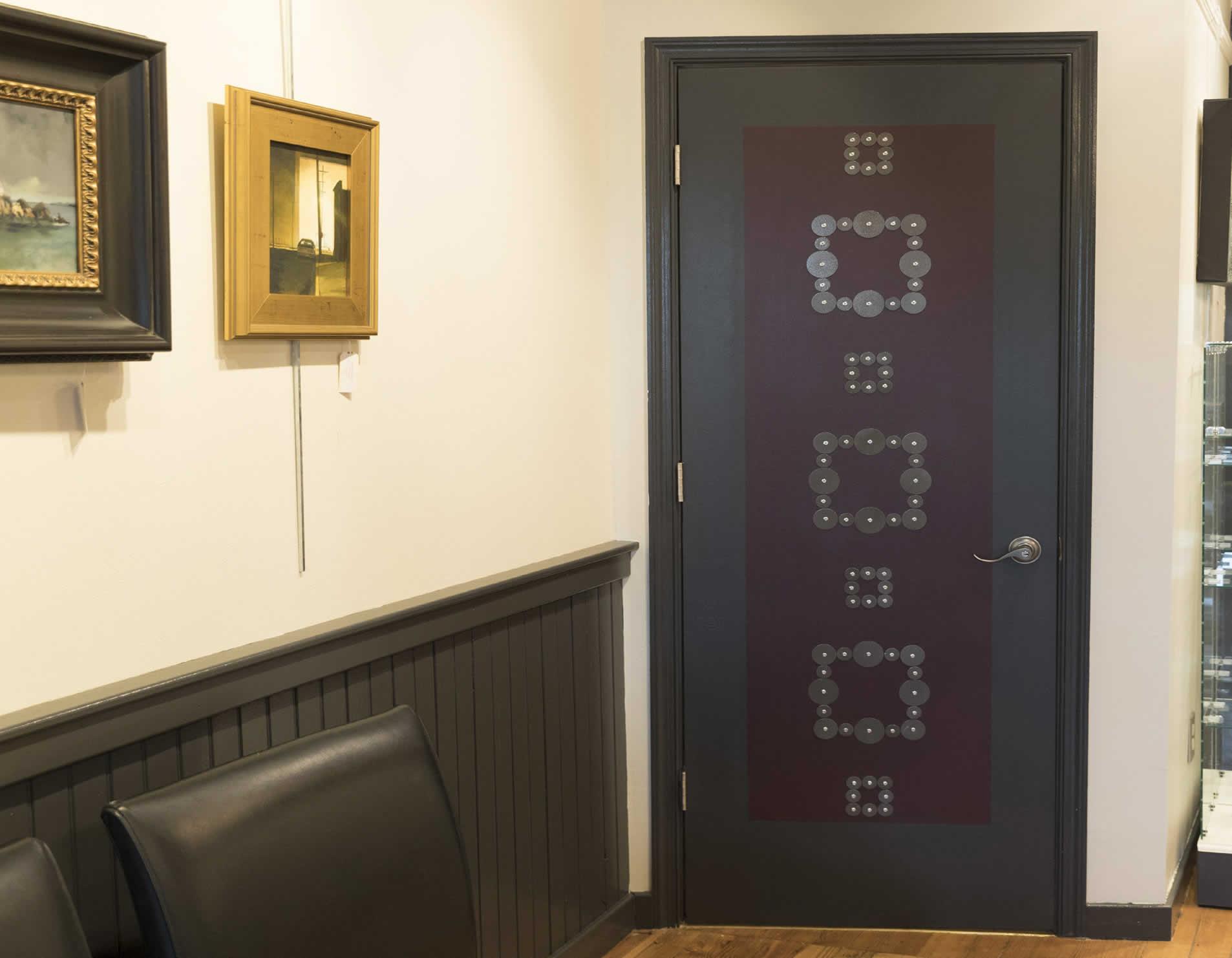 Decorative Rivet Door