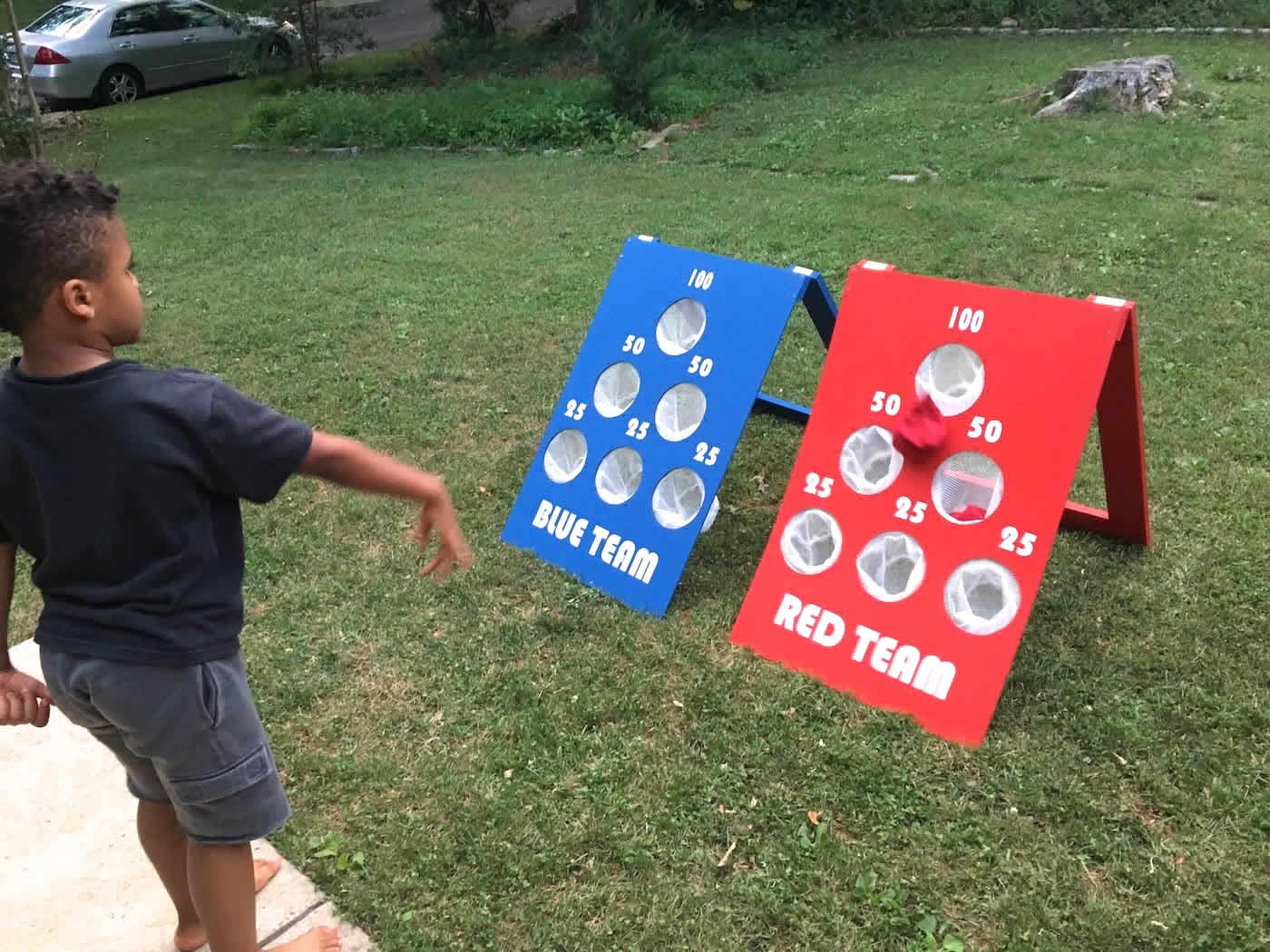 Make a Bean Bag Toss Game