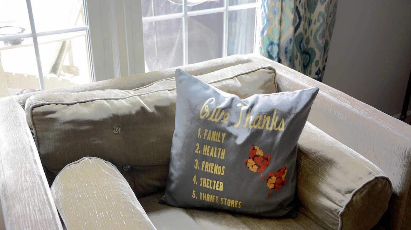 Iron-On Thanksgiving Pillow