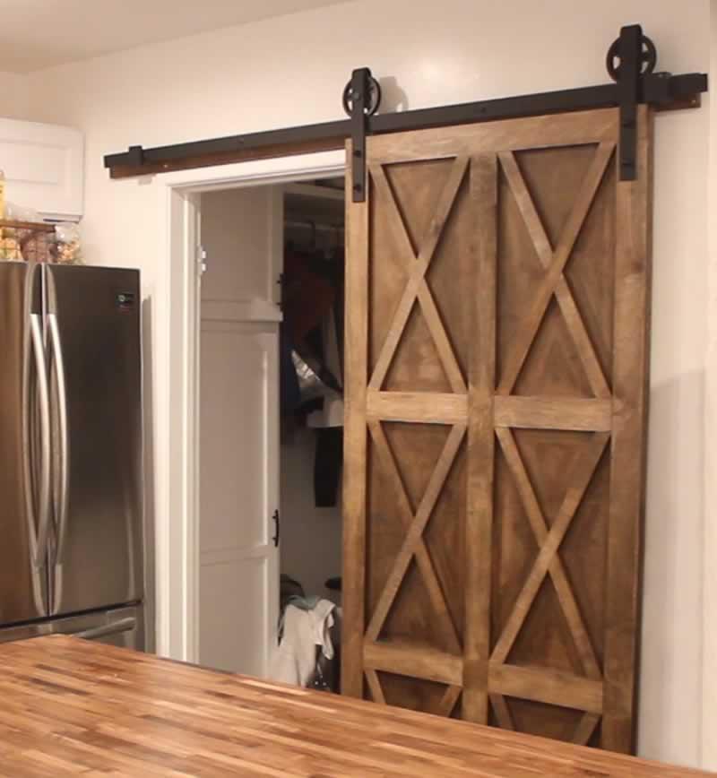 Plywood Barn Door
