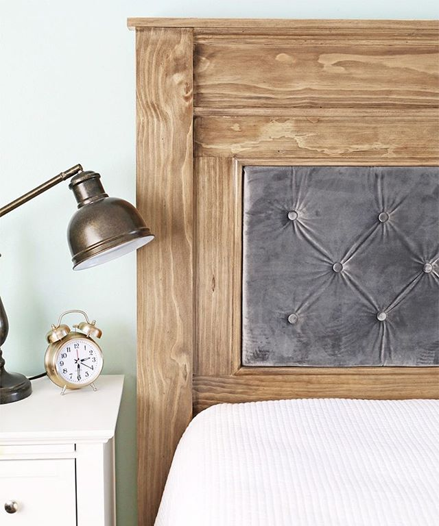 Boost your bedroom style with this gorgeous DIY headboard from @thecraftpatch.  Link in bio! . . . . . . . .