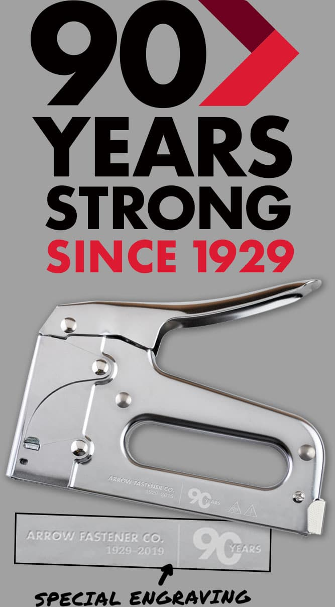 Specially engraved, limited edition Commemorative T50 Heavy-duty Stapler